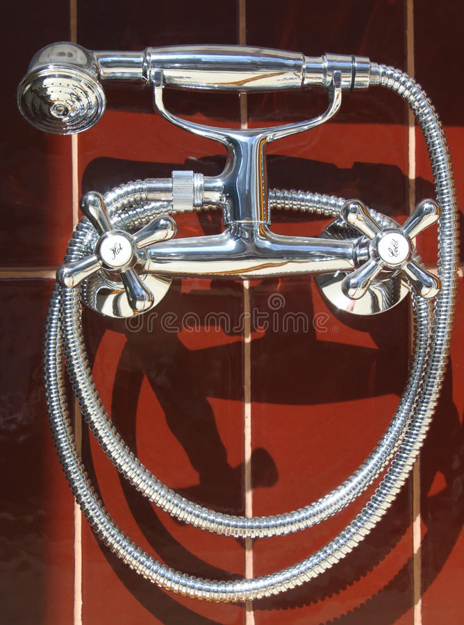 Download Bathroom taps stock image. Image of attachment, head - 13548617