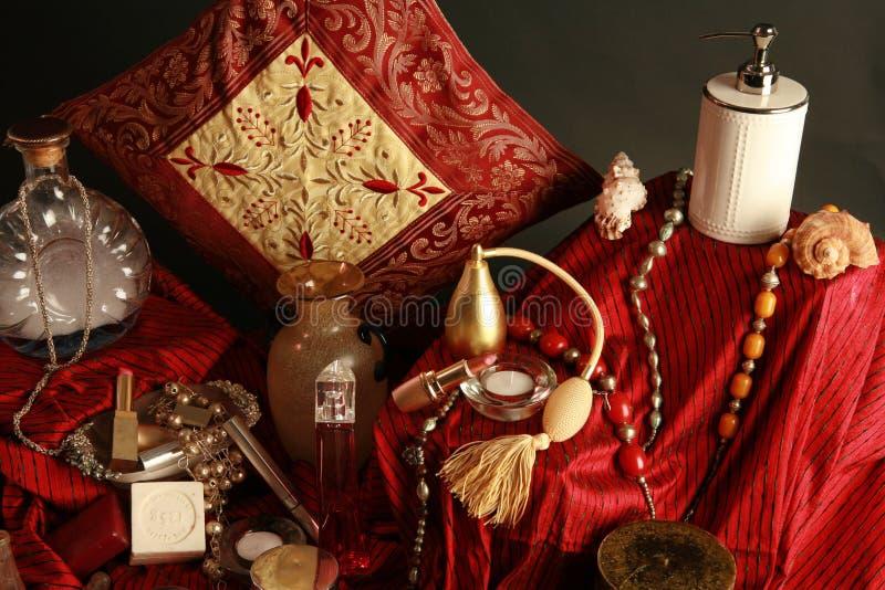 Download Bathroom theme stock photo. Image of vase, products, perfume - 508044