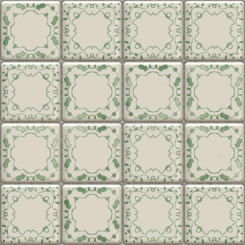 Bathroom tiles. Great image of a bathroom or kitchen floor or wall tiles royalty free illustration