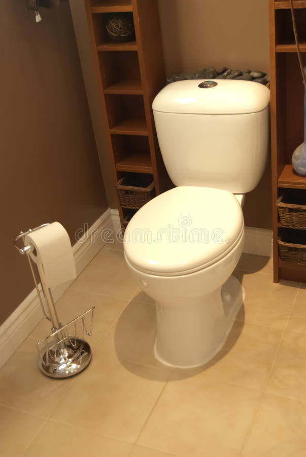 Bathroom toilet. Bathroom with toilet and other objects stock photography