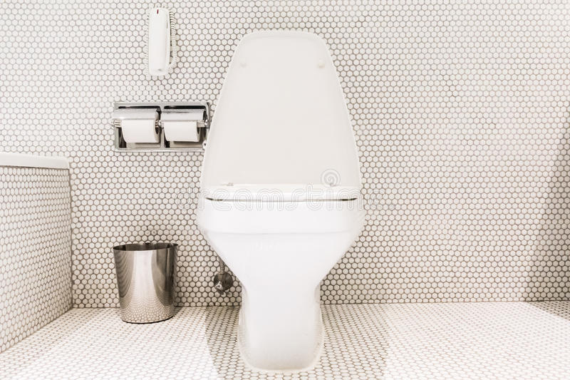 Bathroom and toilet. Beautiful luxury white Bathroom and toilet interior stock images