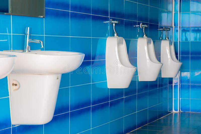 Bathroom or toilet men. Restroom for men stock image