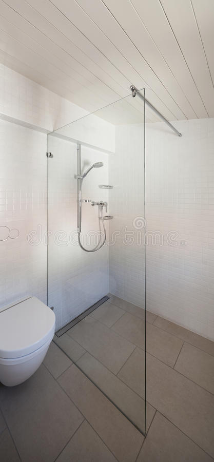 Bathroom, toilet and shower royalty free stock photo