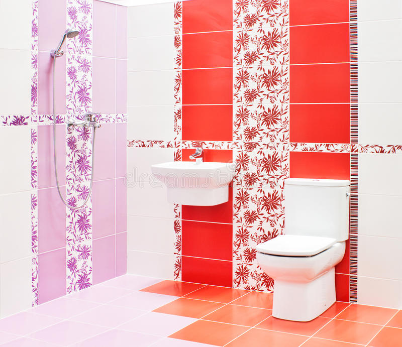 Bathroom with toilet and sink royalty free stock photography