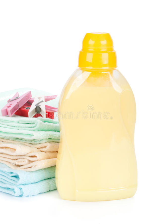 Bathroom towels. And household goods on a white background stock images