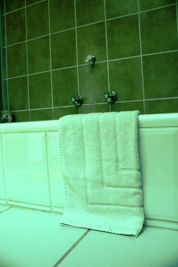 Bathroom with towels royalty free stock image