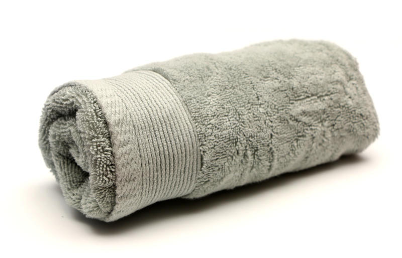 Bathroom Towels. On a white background stock photography