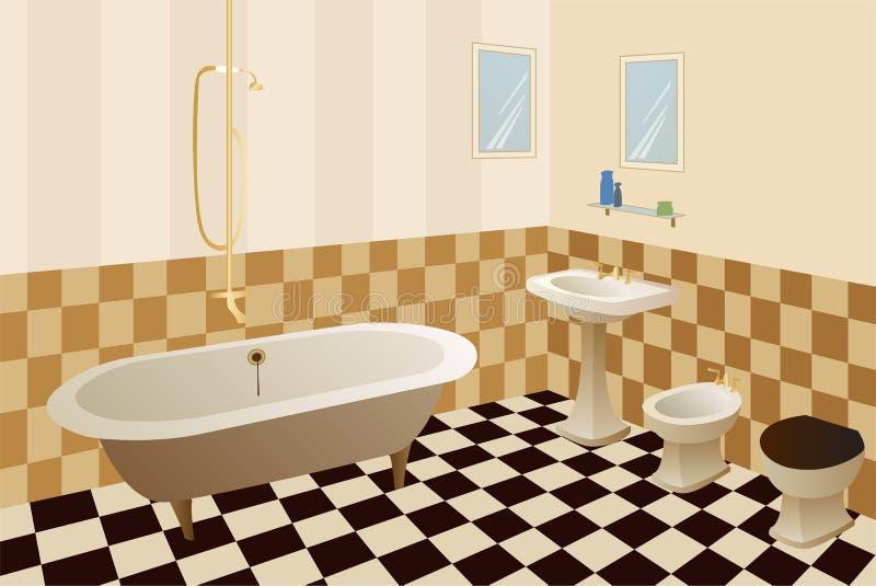 Download Bathroom vector stock vector. Image of drain, floor, metal - 7228309