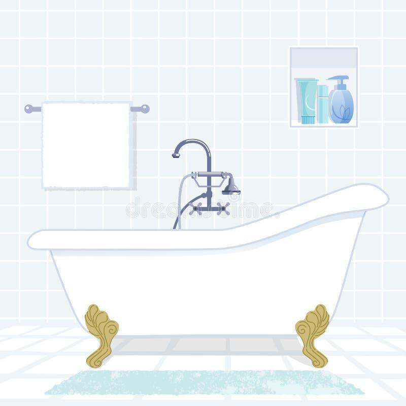 bathroom with vintage style bathtub stock image image 36195101. Black Bedroom Furniture Sets. Home Design Ideas