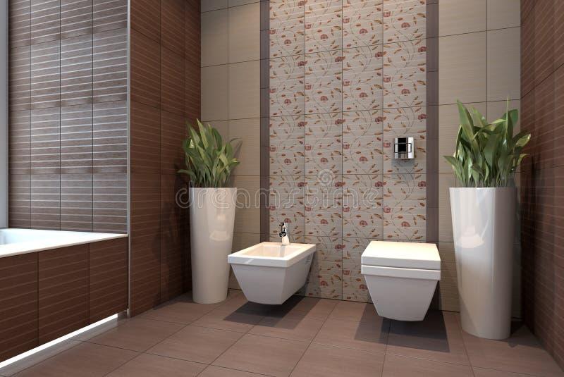 Bathroom with wc stock illustration