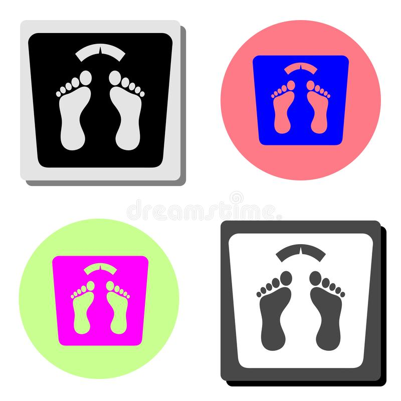 bathroom weight scale. flat vector icon royalty free illustration