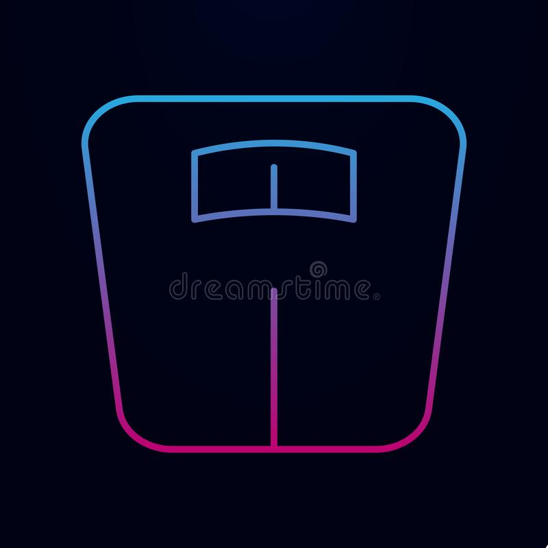 Bathroom weight scale nolan icon. Simple thin line, outline vector of bathroom icons for ui and ux, website or mobile application stock illustration