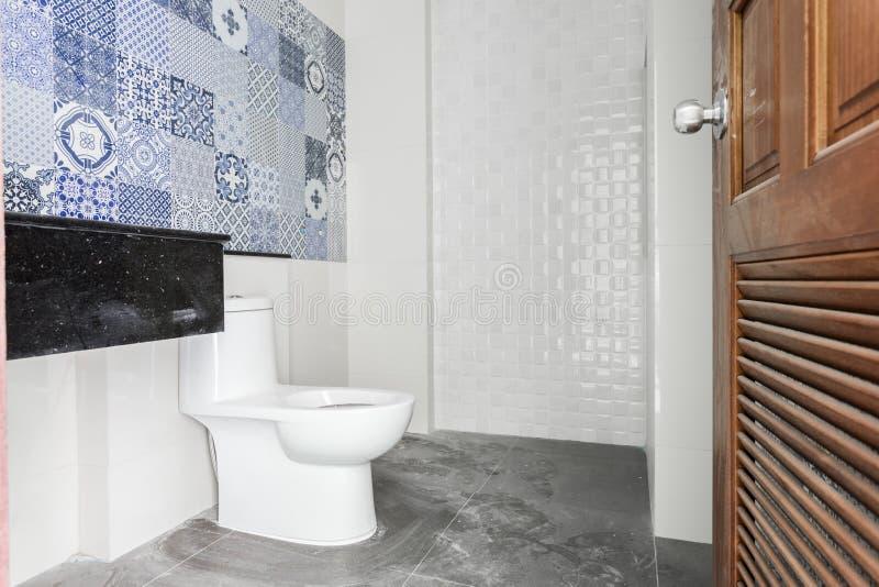 Bathroom White sanitary ware stock photos