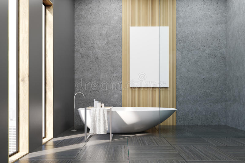 Download Bathroom With White Tub And Poster Stock Illustration - Image: 83722304