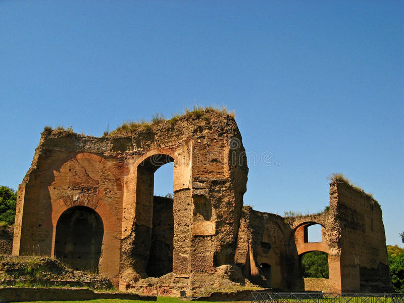 Baths of Caracalla 03. The Baths of Caracalla in Rome, Italy royalty free stock photography