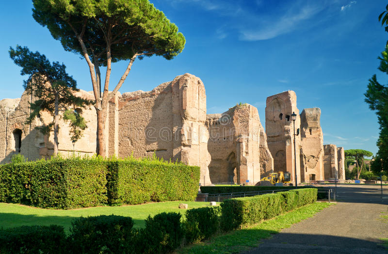 Baths of Caracalla in Rome. Baths of Caracalla, ancient roman public baths, in Rome, Italy royalty free stock images