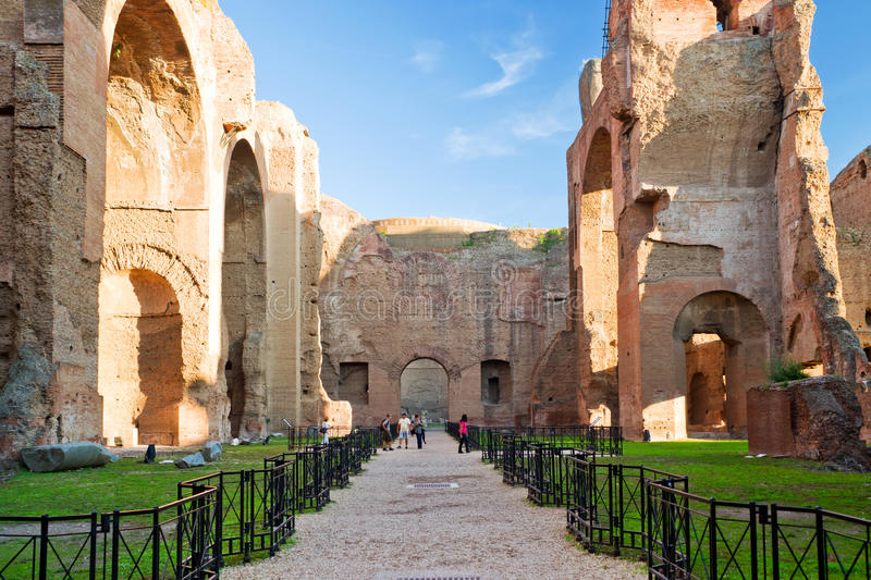 The Baths of Caracalla in Rome, Italy. The Baths of Caracalla, ancient roman public baths, in Rome, Italy royalty free stock photography