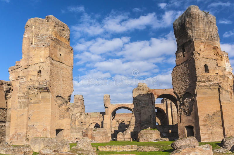 Baths of Caracalla. The ruins of the Baths of Caracalla in Rome, Italy royalty free stock image