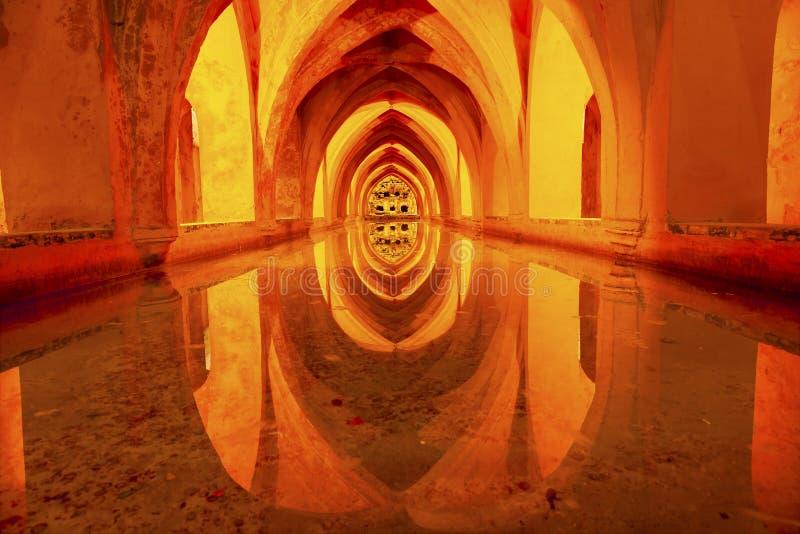 Baths of Dona Maria de Padilla Alcazar Royal Palace Seville Spain royalty free stock image