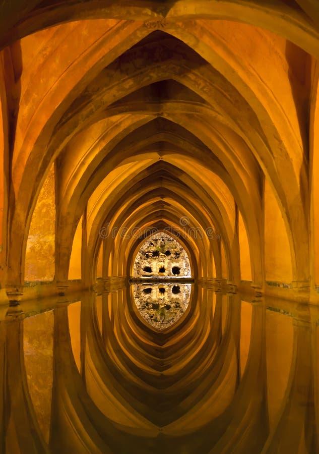 Baths of Dona Maria Padilla in the Royal Alcazars, stock photos