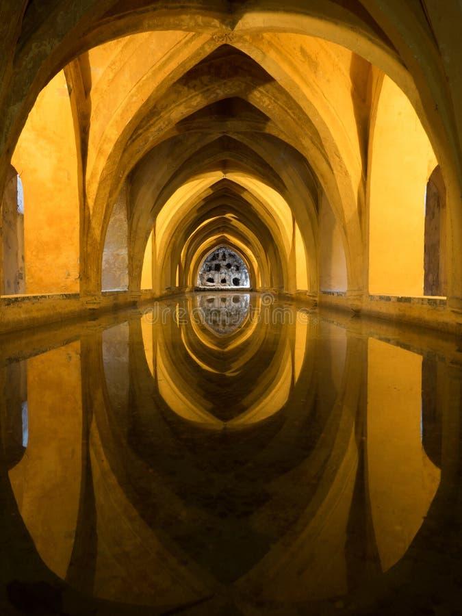Baths of Maria De Padilla, Alcazar of Seville royalty free stock photography