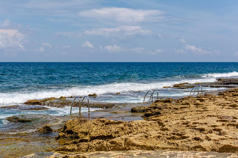 Baths of Sliema, commonly known as Roman Baths or Fond Ghadir royalty free stock photography