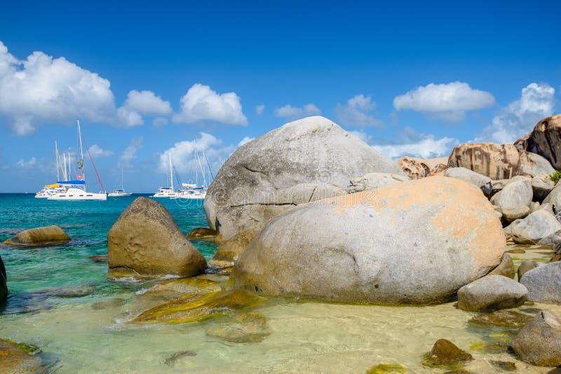The Baths, Virgin Gorda, British Virgin Islands stock photo