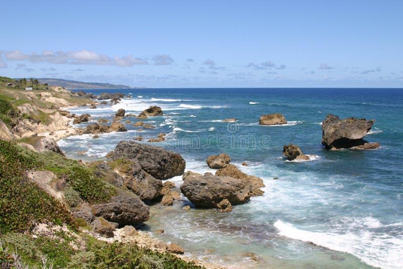 Bathsheba, Barbados. Barbados Rocky East Coast, very sunny day, clear and warm stock photos
