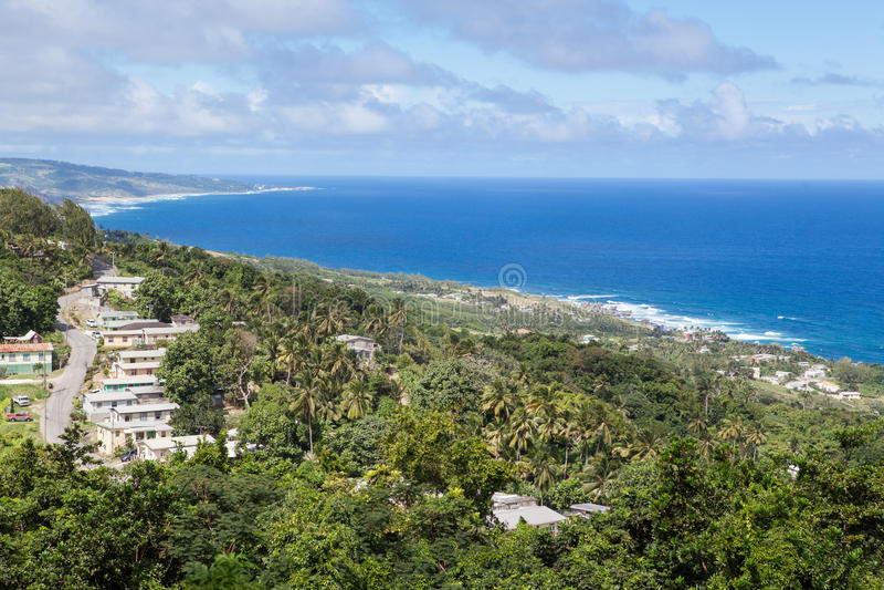 Bathsheba en la costa este de la isla de Barbados imágenes de archivo libres de regalías
