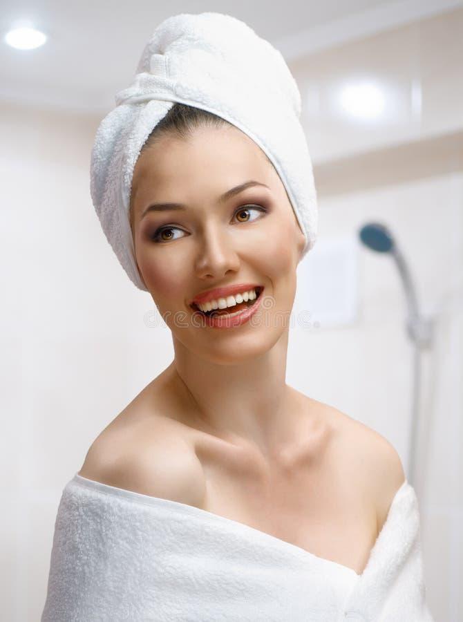 bathtowel kobieta obrazy royalty free