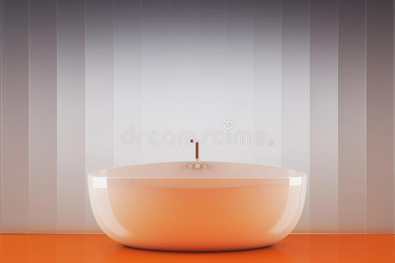 Download Bathtub stock illustration. Image of bathtub, orange - 23686913
