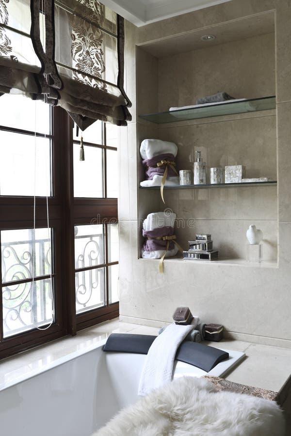 Free Bathtub Beside The Window Royalty Free Stock Image - 58238776