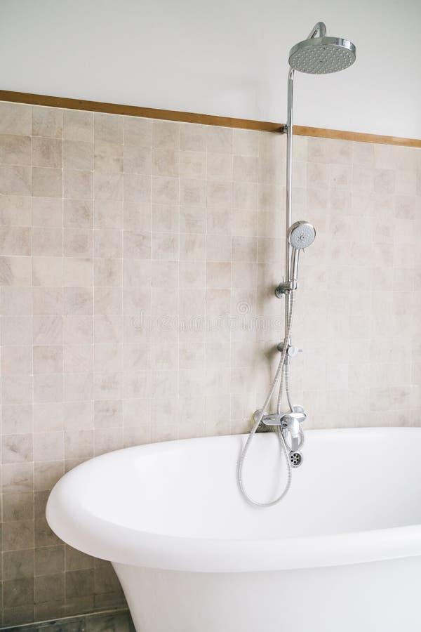 Bathtub Decoration In Bathroom Stock Photo - Image of beautiful ...