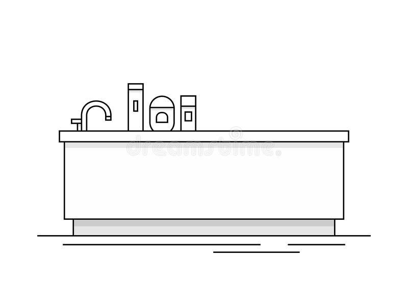 bathtub Illustrazione di vettore illustrazione di stock