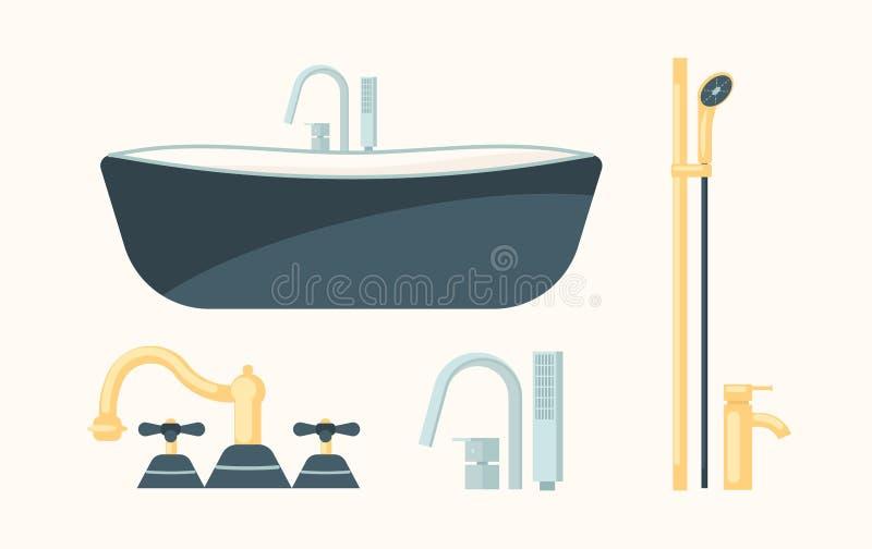 Accessible Faucet Tap Shower Sink Bathtub Clipart - Faucet Png, Transparent  Png - vhv