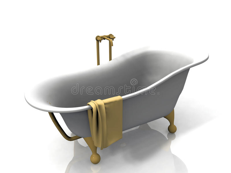 Download Bathtub and towel stock illustration. Image of contemporary - 21859427