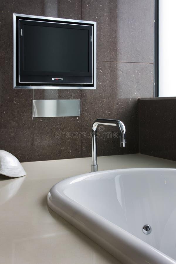 Bathtub TV stock photography