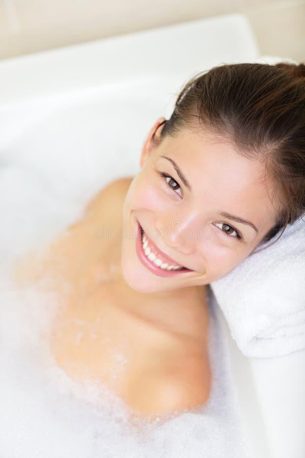 Bathtub woman stock photo