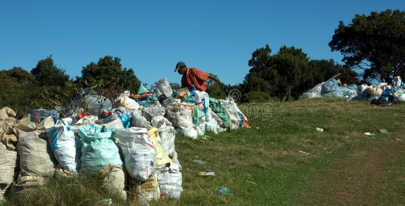 Bathurst kommunal avskrädegrop (spetsen) arkivfoton