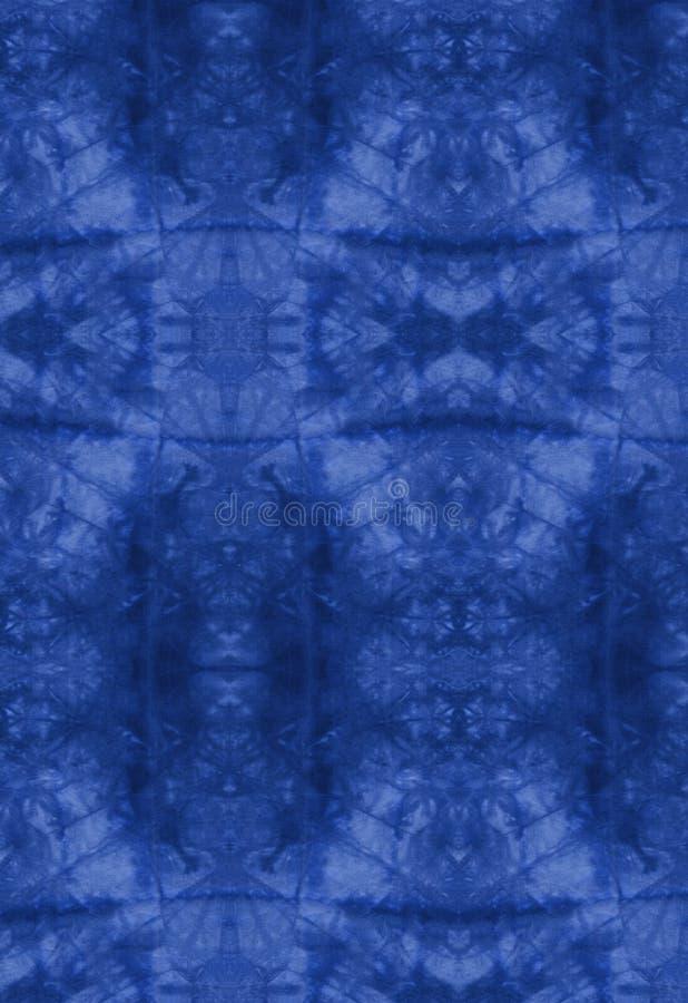 Batic azul ilustração stock