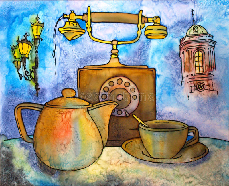 Batic time for tea royalty free stock images
