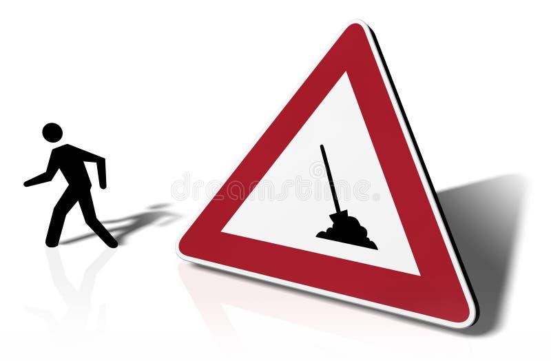 Batida do sinal de tráfego ilustração royalty free