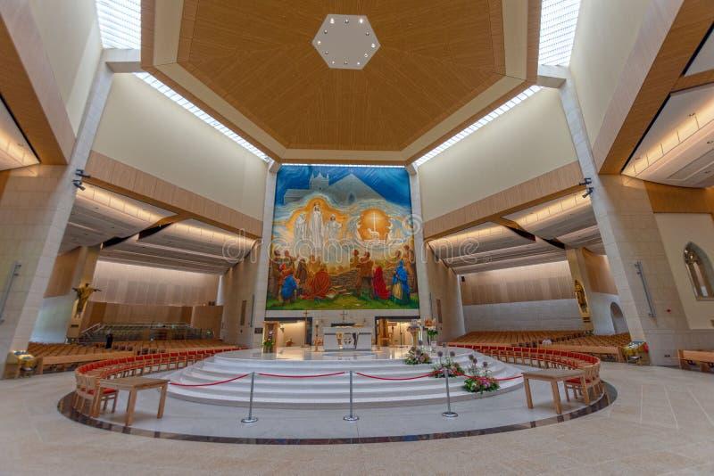 Batida, Mayo, Irlanda ` S Marian Shrine nacional da Irlanda em Co Mayo, visitado perto sobre 1 5 milhões de pessoas todos os anos imagem de stock