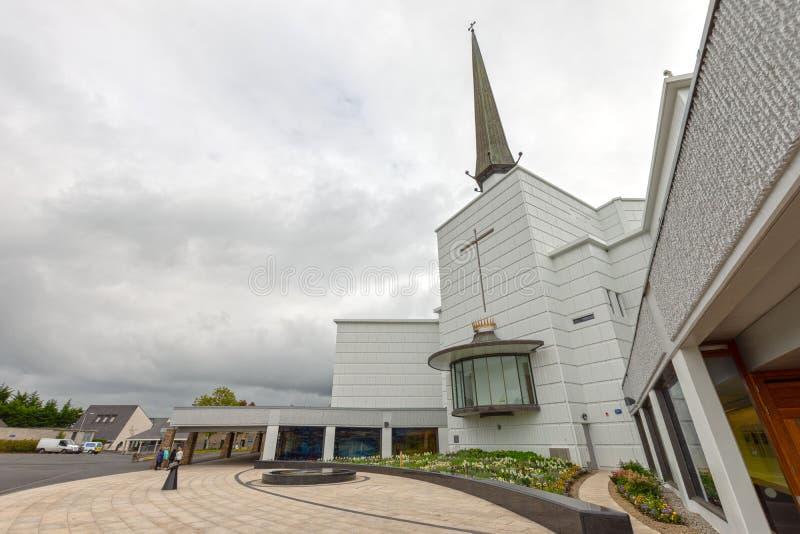 Batida, Mayo, Irlanda ` S Marian Shrine nacional da Irlanda em Co Mayo, visitado perto sobre 1 5 milhões de pessoas todos os anos fotografia de stock royalty free