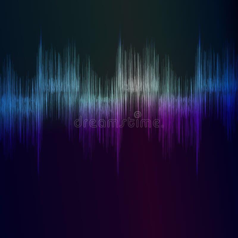 Batidas sadias da música do ritmo do equalizador ilustração royalty free