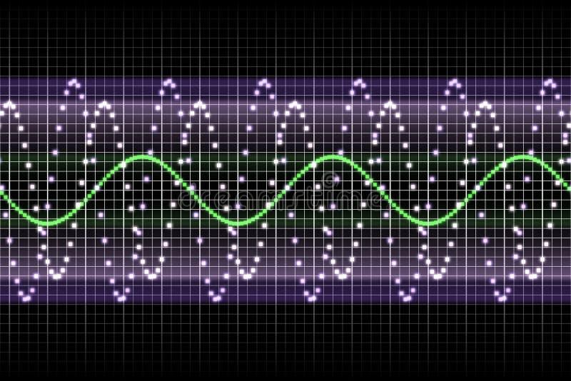 Batidas sadias da música do ritmo do equalizador ilustração stock
