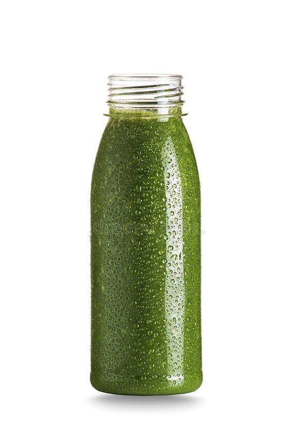 Batido verde com frutas e legumes imagem de stock royalty free