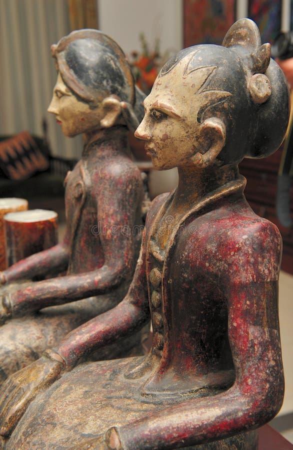 Batik 2 delle bambole fotografia stock libera da diritti