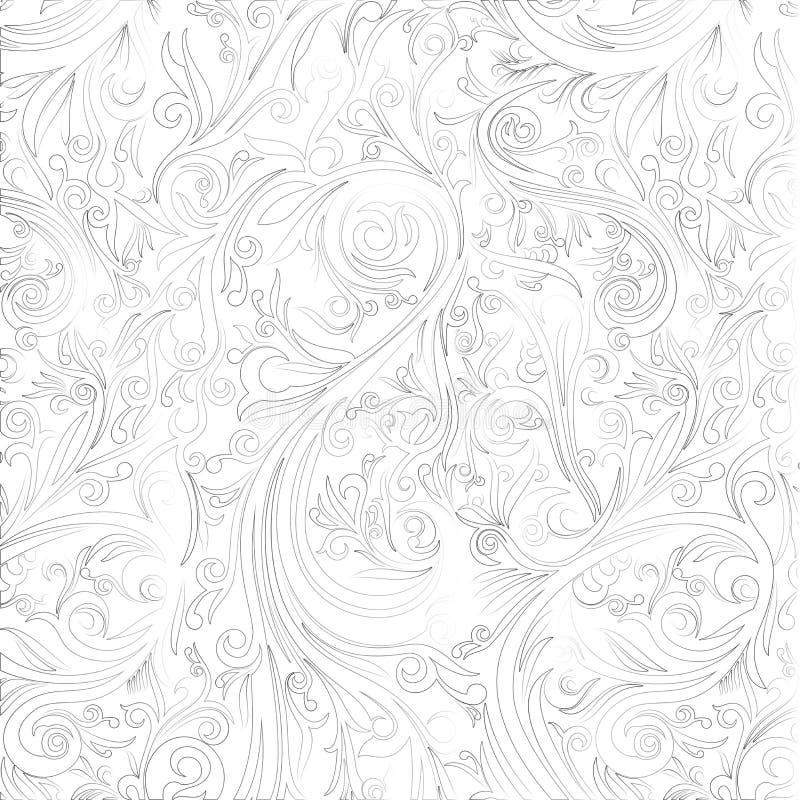 Batik Abstract Swirl On White Shape From Yogyakarta Stock