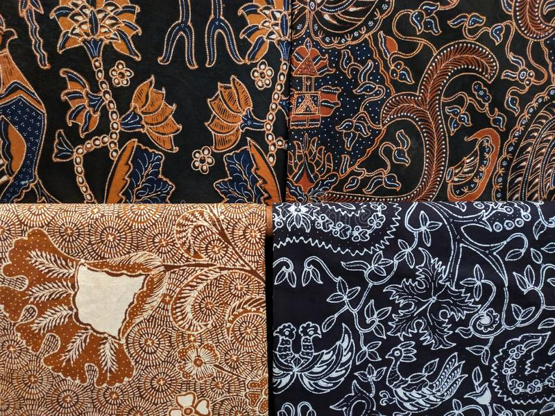 Batik cloth motif from Yogyakarta, Indonesia. Use for background or wallpaper stock photography